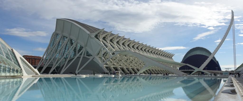 Valencia - Ciudad de las Artes y Ciencias (Stad van Kunst en Wetenschap).